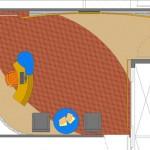 Planta de layout da nova recepção