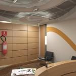 Detalhe do tratamento que será dado ao armário de utilidades existente
