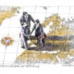 Imagem desenvolvida para referenciar a globalização da companhia e humanizar a recepção