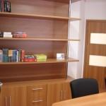 Detalhe do armário que abrigará parte dos livros do acervo da Biblioteca