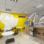 Projeto de mapa da América Latina a ser instalado na área do coffe break da Presidência