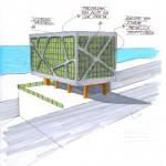 Croqui da Fachada que permitirá o acesso a pedestres e veículos