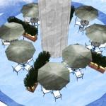 Vista da proposta da área do 2º andar