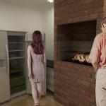 Vista da cozinha e churrasqueira