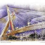 Desenho do artista Marco Angeli para área da Copa