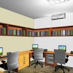 Vista da sala do administrativo