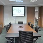 Vista da mesa de reuniões da Sala da Presidência