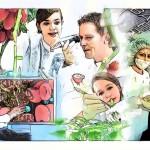 Detalhe da arte do quadro que foi produzido para ficar na copa pelo Artista Plástico Marco Angeli